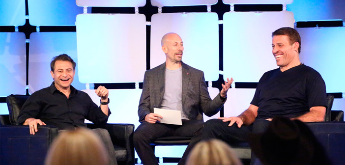 Tony Robbins y Peter Diamandis creen que emprendedores con ideas locas salvarán el mundo